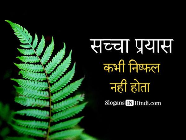 Sacha prayas kabhi nishfakl nahi hota